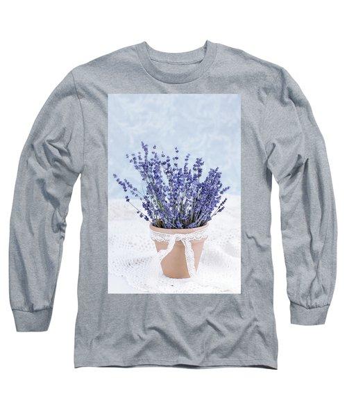 Lavender Long Sleeve T-Shirt by Stephanie Frey