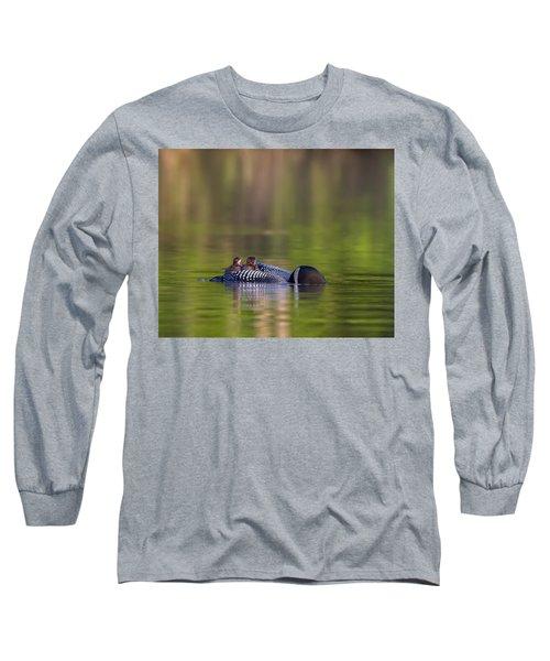 Loon Chick Yawn Long Sleeve T-Shirt