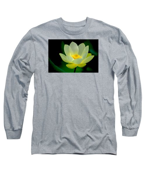 Long Sleeve T-Shirt featuring the photograph Lotus Blossom by Tyson and Kathy Smith