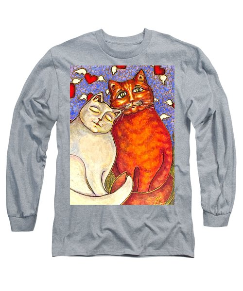 Long Sleeve T-Shirt featuring the painting Love Is In The Air by Rae Chichilnitsky