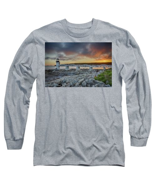 Marshall Point Lighthouse At Sunset, Maine, Usa Long Sleeve T-Shirt
