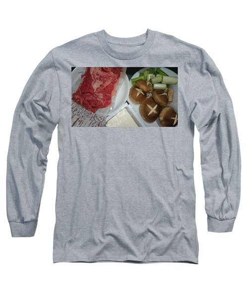 Materials Of The Sukiyaki Dish  Long Sleeve T-Shirt