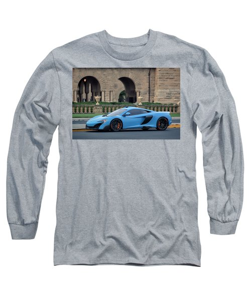 Long Sleeve T-Shirt featuring the photograph #mclaren #675lt With #pirelli #tires by ItzKirb Photography