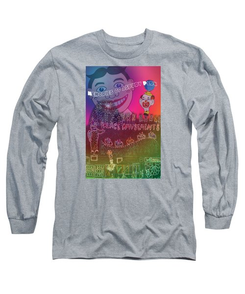 Long Sleeve T-Shirt featuring the painting Memories Of Asbury Park by Patricia Arroyo