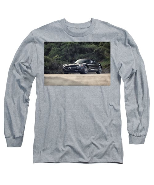 Long Sleeve T-Shirt featuring the photograph #mercedes #amg #gts by ItzKirb Photography