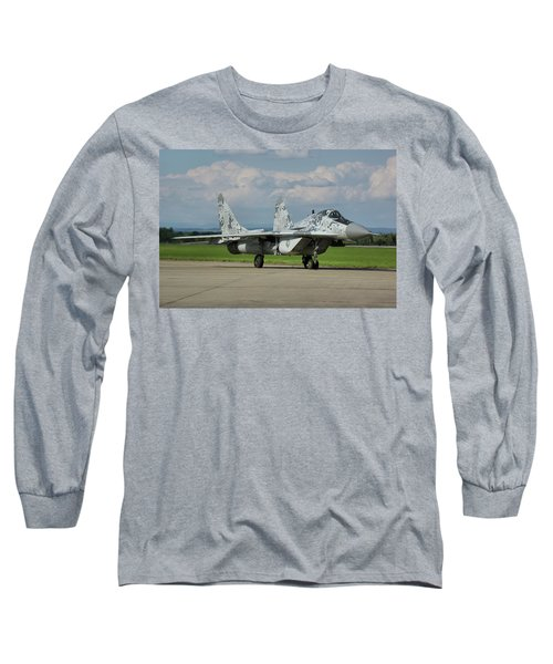 Long Sleeve T-Shirt featuring the photograph Mikoyan-gurevich Mig-29as by Tim Beach