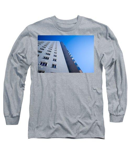 Modern Apartment Block Long Sleeve T-Shirt by John Williams