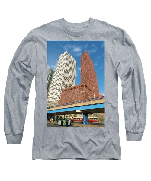 Modern Skyscrapers Long Sleeve T-Shirt by Hans Engbers