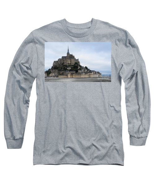Mont St Michel Long Sleeve T-Shirt by Therese Alcorn