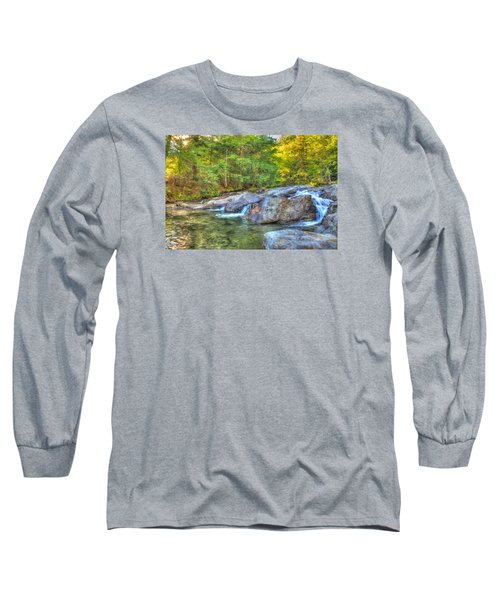 Mountain Stream Waterfalls Long Sleeve T-Shirt