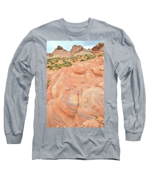Long Sleeve T-Shirt featuring the photograph Multicolored Wave In Valley Of Fire by Ray Mathis