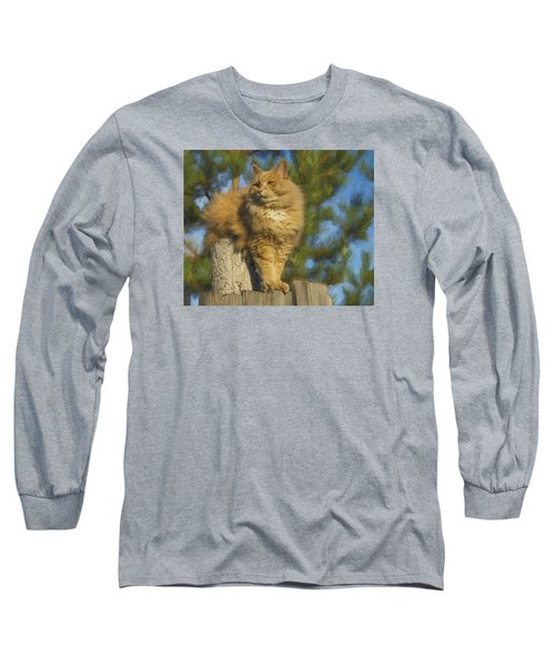 Long Sleeve T-Shirt featuring the photograph My Cat by Vladimir Kholostykh
