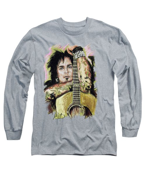 Nikki Sixx Long Sleeve T-Shirt by Melanie D