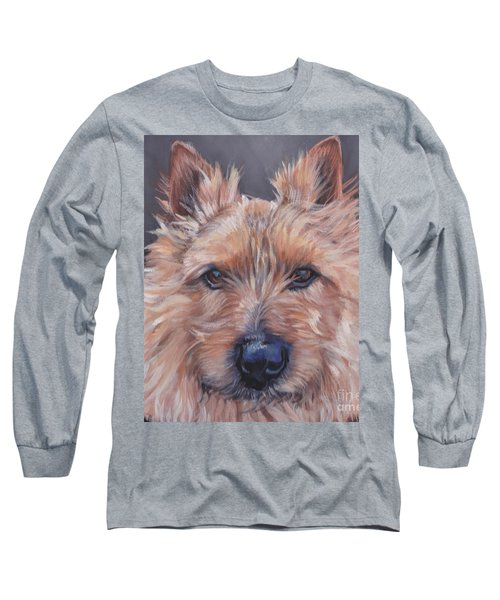 Long Sleeve T-Shirt featuring the painting Norwich Terrier by Lee Ann Shepard
