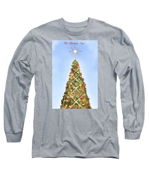 Long Sleeve T-Shirt featuring the photograph Oh Christmas Tree by Joan Bertucci