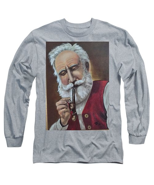 Old German With Pipe Long Sleeve T-Shirt