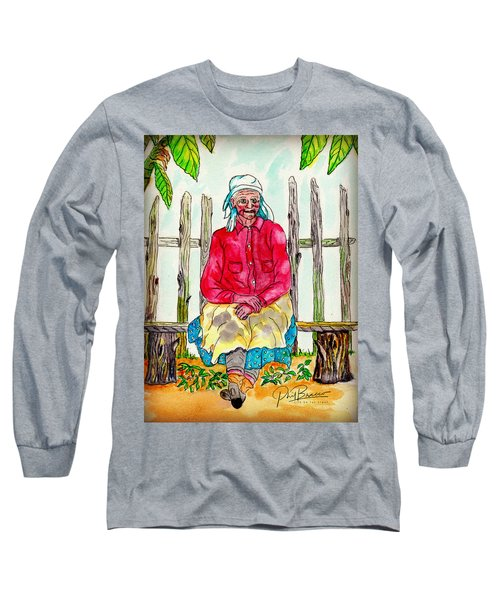 Old Migrant Worker, Resting, Arcadia, Florida 1975 Long Sleeve T-Shirt