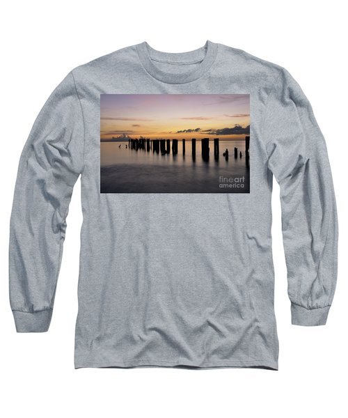 Old Naples Pier Long Sleeve T-Shirt by Kelly Wade