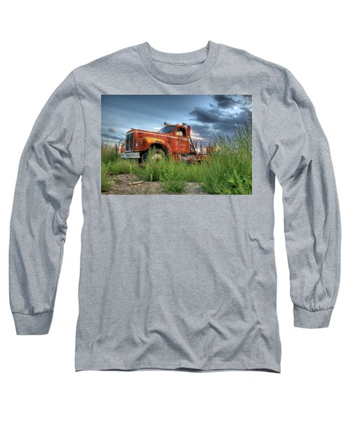 Orange Truck Long Sleeve T-Shirt