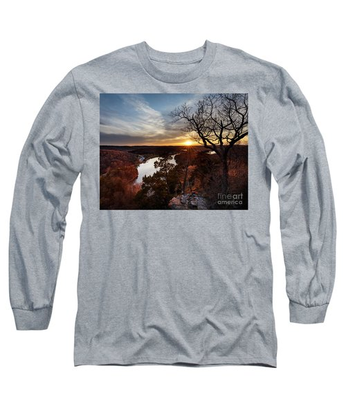 Long Sleeve T-Shirt featuring the photograph Ozark Sunset by Dennis Hedberg