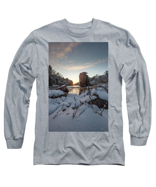 Long Sleeve T-Shirt featuring the photograph  Palisades First Snow by Aaron J Groen