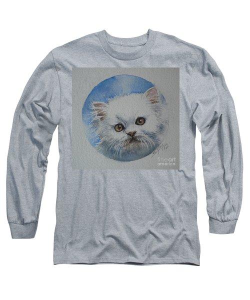 Long Sleeve T-Shirt featuring the painting Persian Kitten by Sandra Phryce-Jones