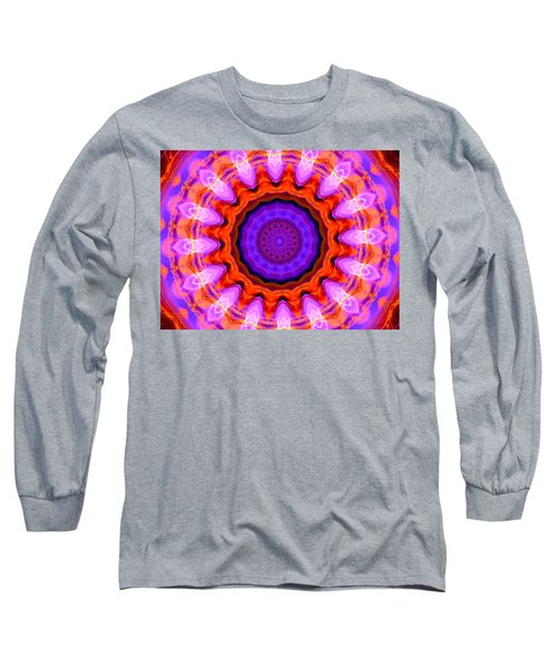 Pink 16-petals Kaleidoscope Long Sleeve T-Shirt