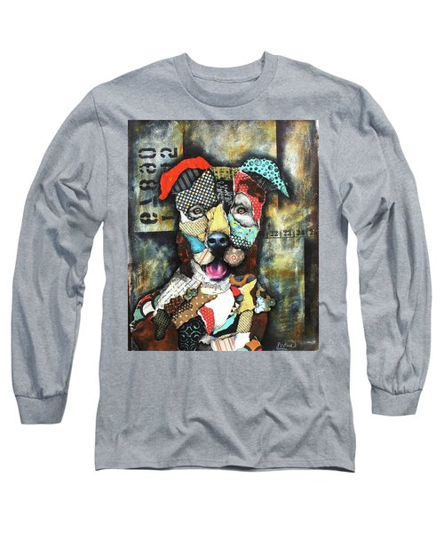 Pit Bull Long Sleeve T-Shirt by Patricia Lintner