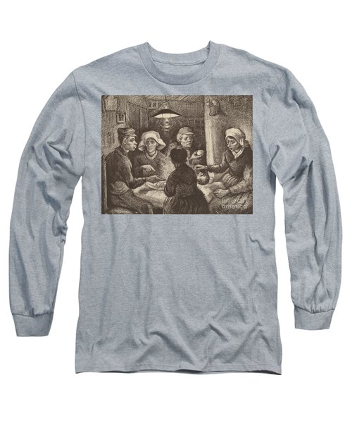 Potato Eaters, 1885 Long Sleeve T-Shirt by Vincent Van Gogh