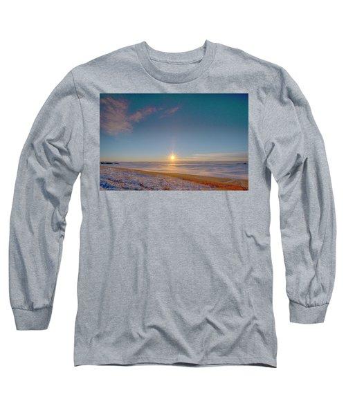 Prairie Winter Sunset Long Sleeve T-Shirt