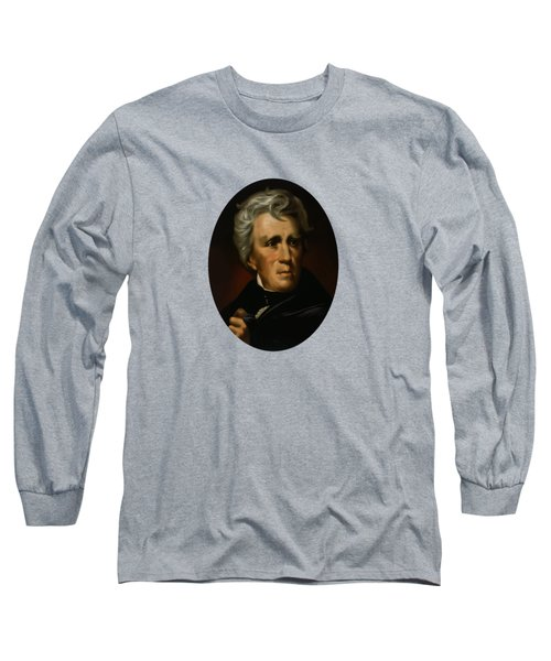 Long Sleeve T-Shirt featuring the painting President Andrew Jackson  by War Is Hell Store