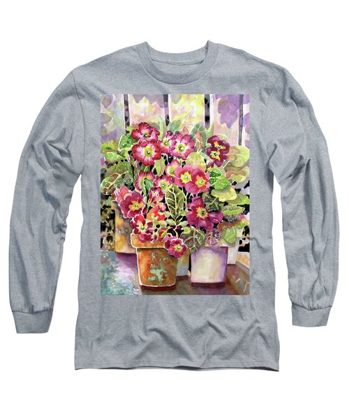 Primroses In Pots Long Sleeve T-Shirt