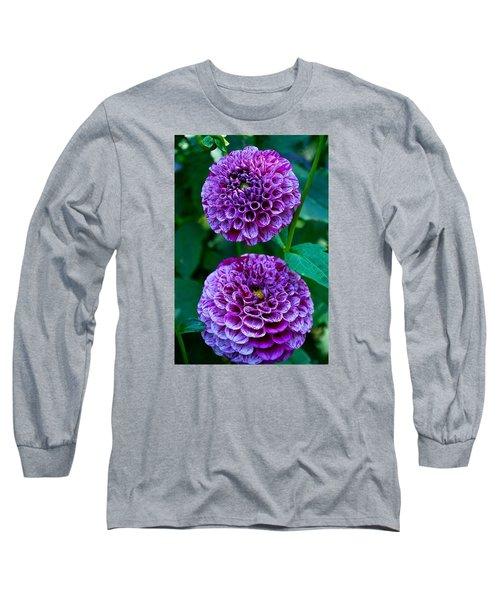 Purple Passion Dahlia  Long Sleeve T-Shirt