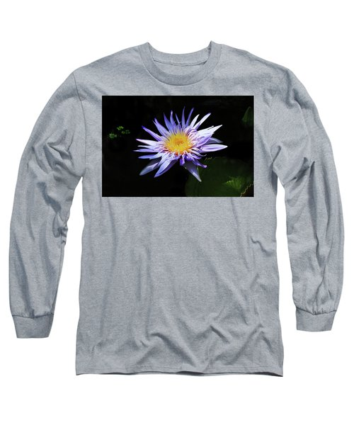 Purple Water Lily Long Sleeve T-Shirt