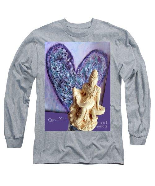 Quan Yin Heart Long Sleeve T-Shirt