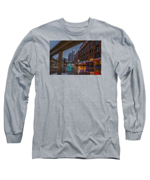 Rainy Night In Detroit  Long Sleeve T-Shirt