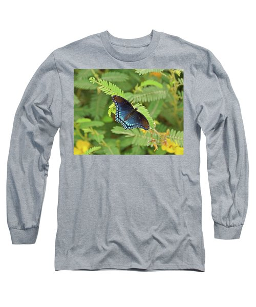 Long Sleeve T-Shirt featuring the photograph Red Spotted Purple Butterfly by Sandy Keeton