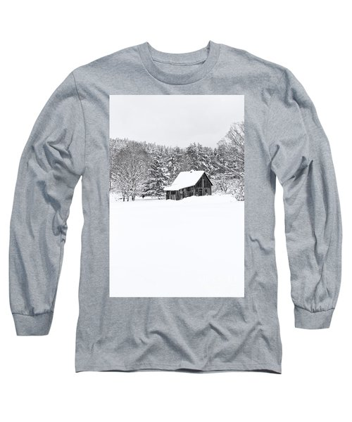 Remote Cabin In Winter Long Sleeve T-Shirt