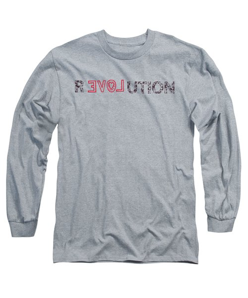 Long Sleeve T-Shirt featuring the drawing Revolution by Bill Cannon