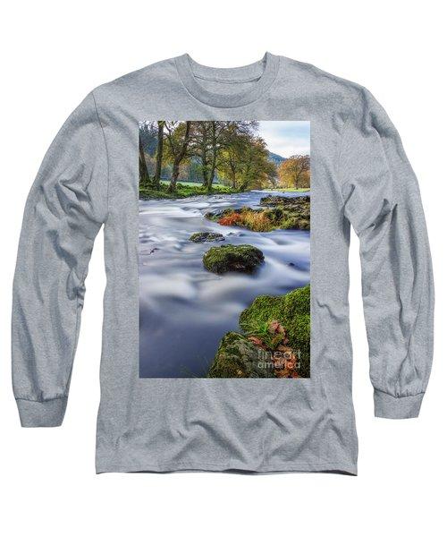 River Llugwy Long Sleeve T-Shirt by Ian Mitchell