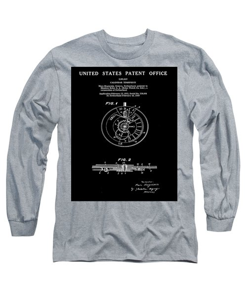 Rolex Watch Patent 1999 In Black Long Sleeve T-Shirt