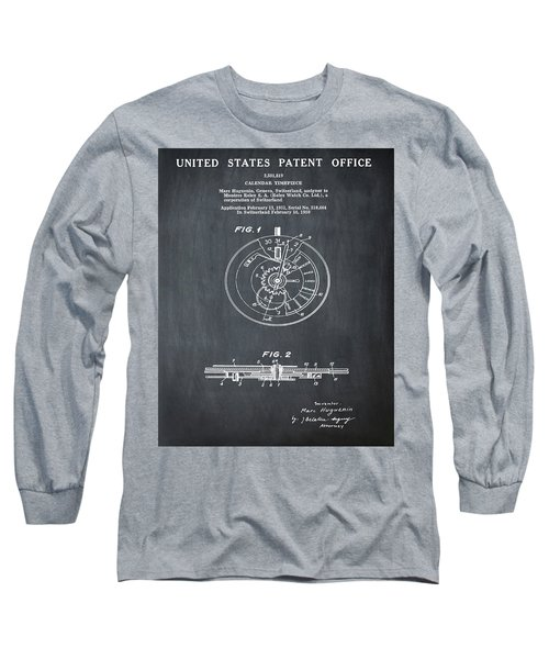 Rolex Watch Patent 1999 In Chalk Long Sleeve T-Shirt