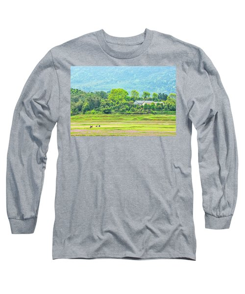 Rural Scenery In Spring Long Sleeve T-Shirt