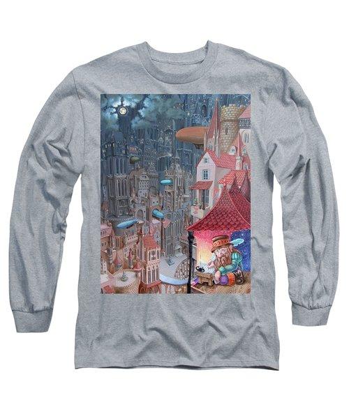 Saga Of The City Of Zeppelins Long Sleeve T-Shirt