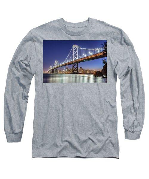 San Francisco City Lights Long Sleeve T-Shirt by JR Photography