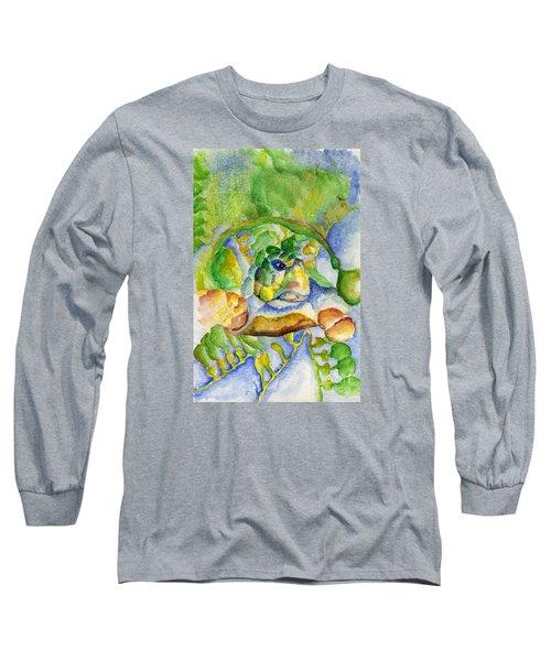 Sea Turtle Hideaway Long Sleeve T-Shirt by Tamyra Crossley