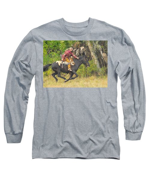 Seminole Indian Warrior Long Sleeve T-Shirt