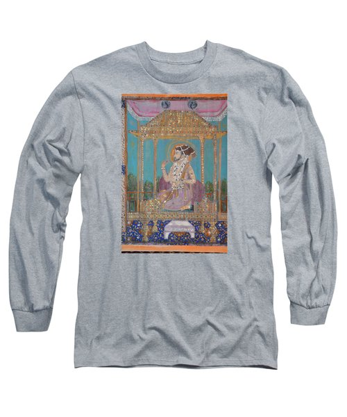 Long Sleeve T-Shirt featuring the painting Shah Jahan by Vikram Singh