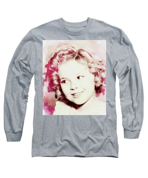 Shirley Temple, Vintage Actress Long Sleeve T-Shirt