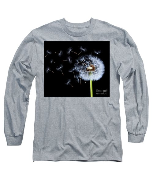 Silhouettes Of Dandelions Long Sleeve T-Shirt by Bess Hamiti